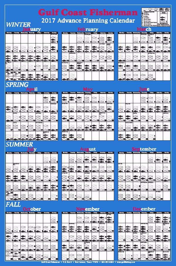 2017 Advance Planning Calendar