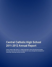 Central Catholic Annual Report