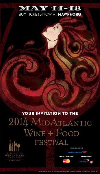 MidAtlantic Wine + Food Festival 2014 Invitation