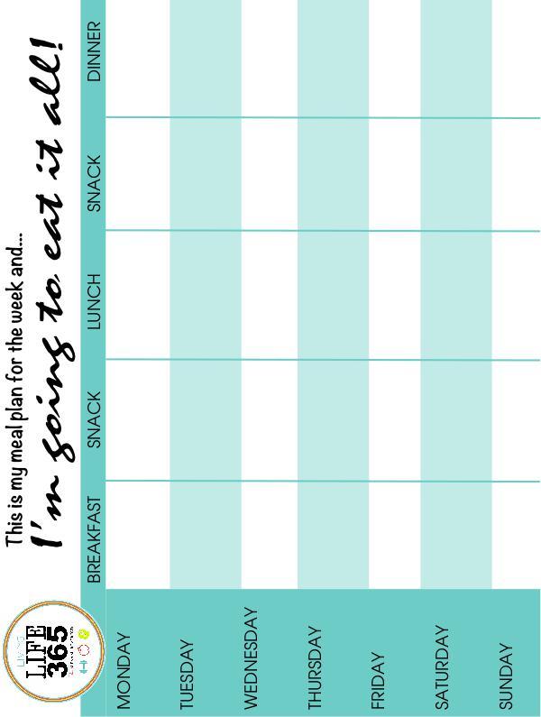 Weekly Meal Planner Printable Meal Planner