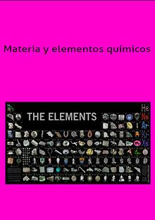 materia y elementos qumicos