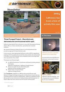 Saftronics Newletter 1. 2014