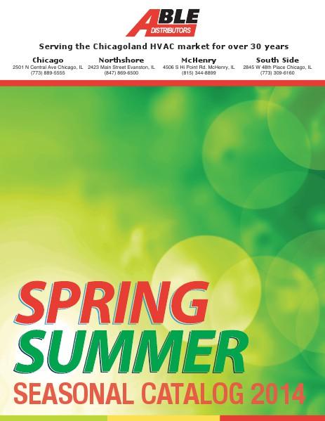 Summer Seasonal Catalog 2014 April 2014
