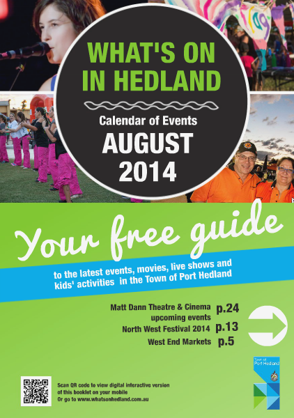 Monthly Events Calendar August.2014