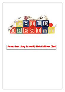 Childhood Obesity: Something Parents Can not Identify