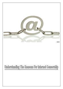 Reasons For Internet Censorship