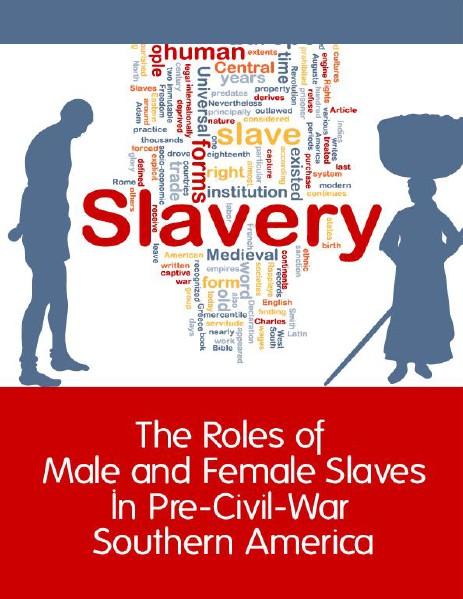 Slavery in Pre-Civil War Southern America May, 2014