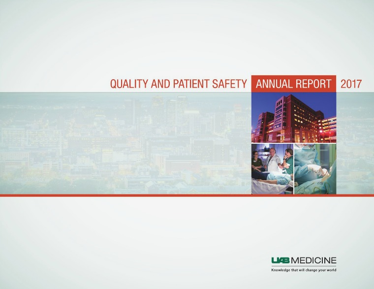 Quality and Patient Safety Annual Report 2017 Quality & Safety Annual Report 2017