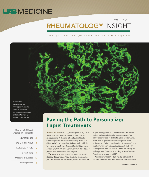 UAB Insight Rheumatology Volume 1