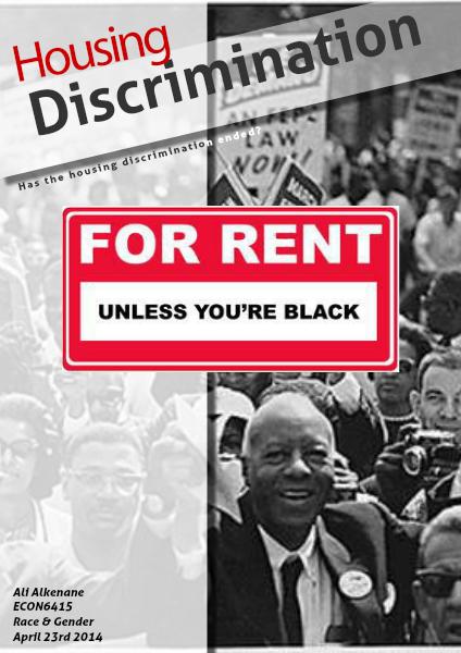 Housing Discrimination April. 2014