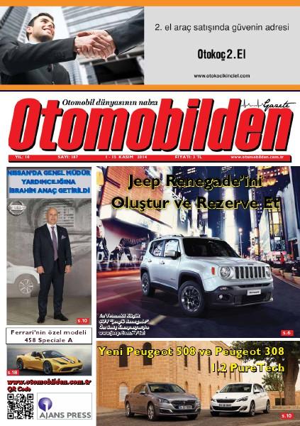 Otomobilden Dergisi 1-15 Kasım 2014