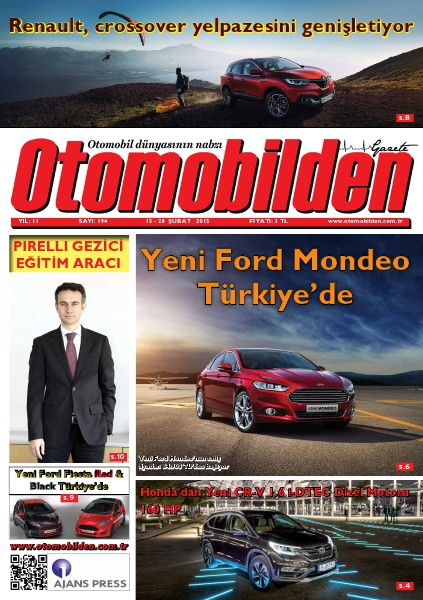 Otomobilden Dergisi 15-28 Şubat 2015