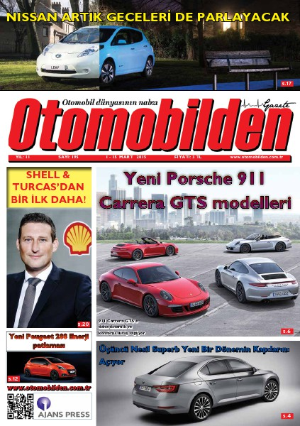Otomobilden Dergisi 1-15 Mart sayısı 2015