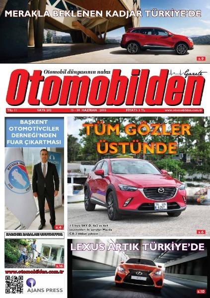Otomobilden Dergisi 15-30 Haziran 2015