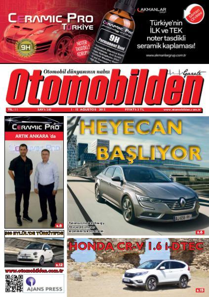 Otomobilden Dergisi 1-15 Ağustos sayisi
