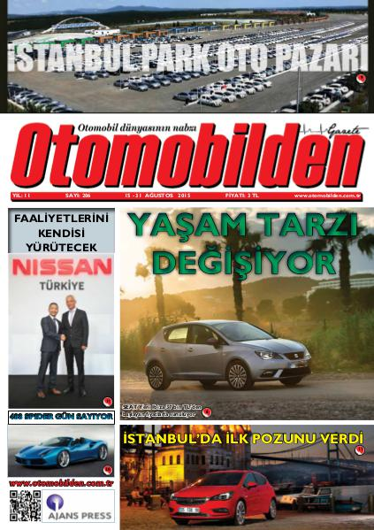 Otomobilden Dergisi 15-31 Ağustos 2015