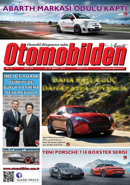 Otomobilden Dergisi 15-29 Şubat 2016