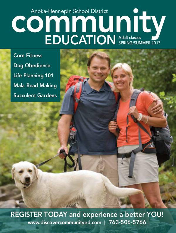 Community Education - current class catalogs Adult classes and activities - Spring/Summer 2017