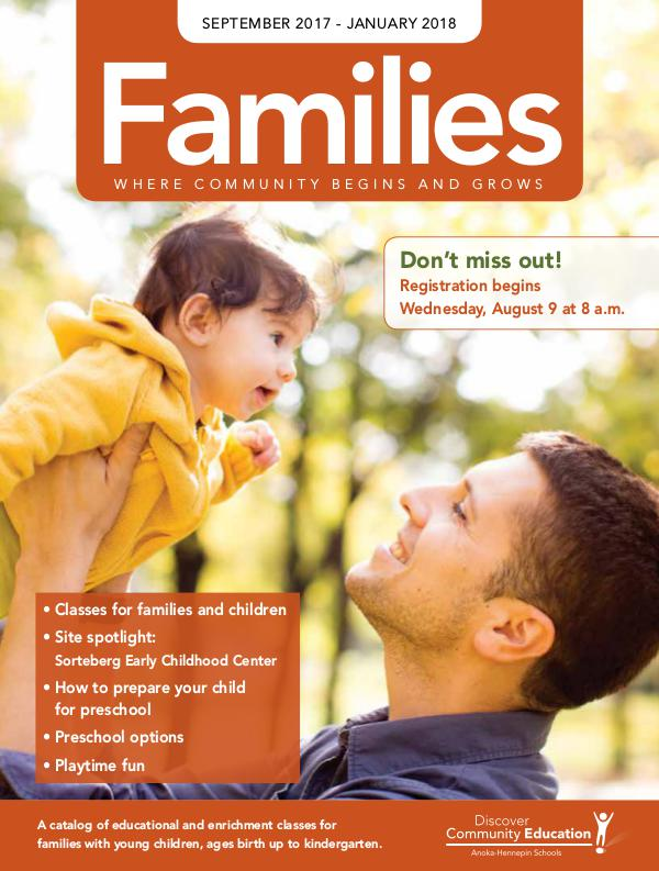 Community Education - current class catalogs Families - Fall 2017