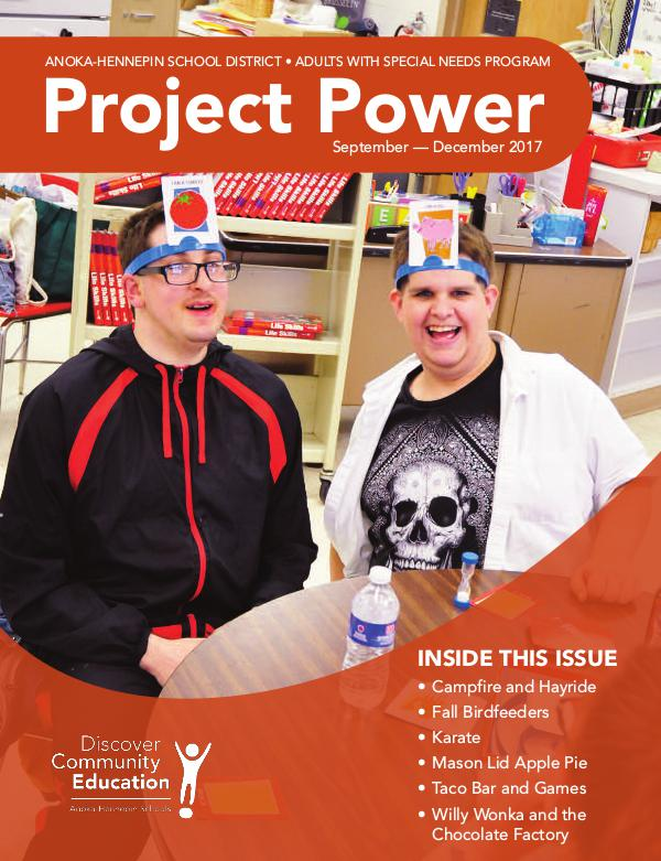 Community Education - current class catalogs Project Power - Fall 2017