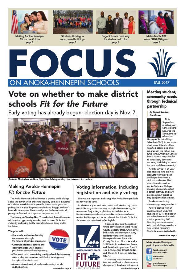 2017-18 Focus newsletter, [2] Fall
