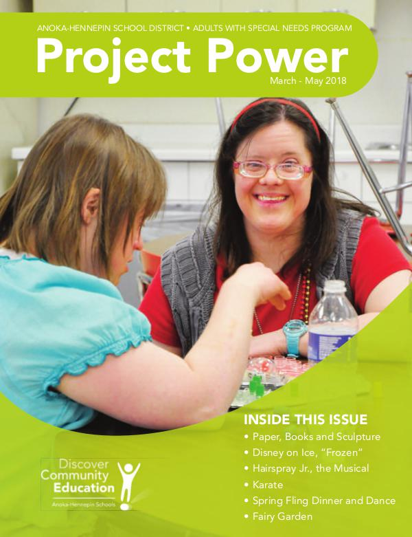 Community Education - current class catalogs Project Power - Spring 2018