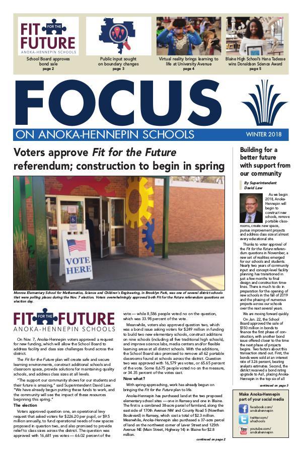 2017-18 Focus newsletter, [3] WINTER