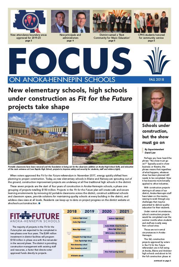 2018-19 Focus newsletter, [2] Fall