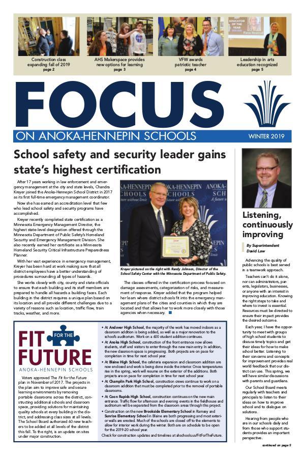 2018-19 Focus newsletter, [3] Winter