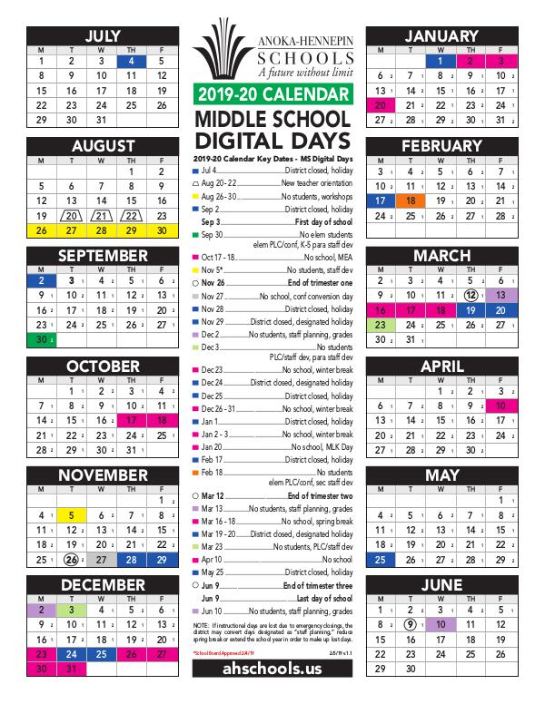 Anoka Hennepin School Calendar 2021 Background