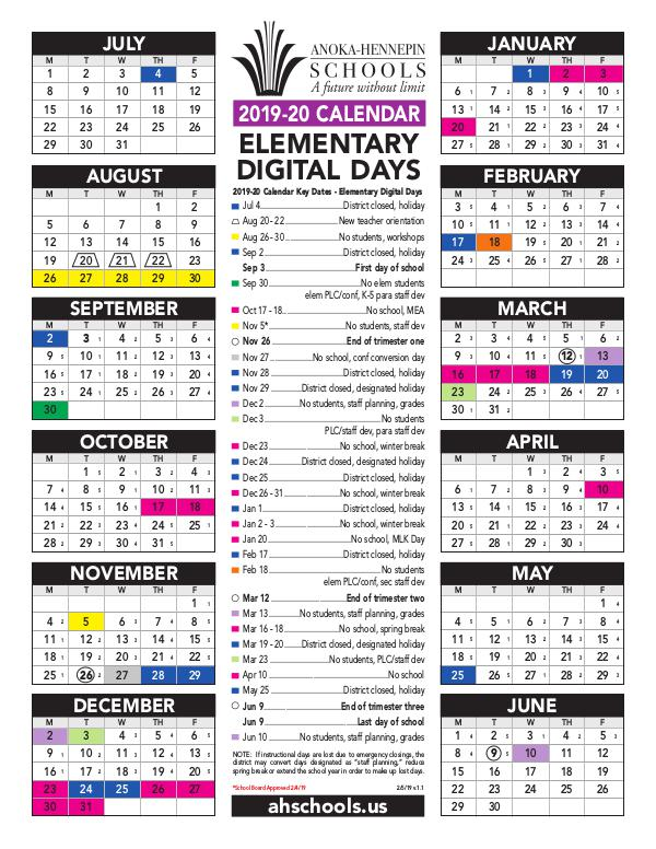 Anoka Hennepin School Calendar 2021 Photos