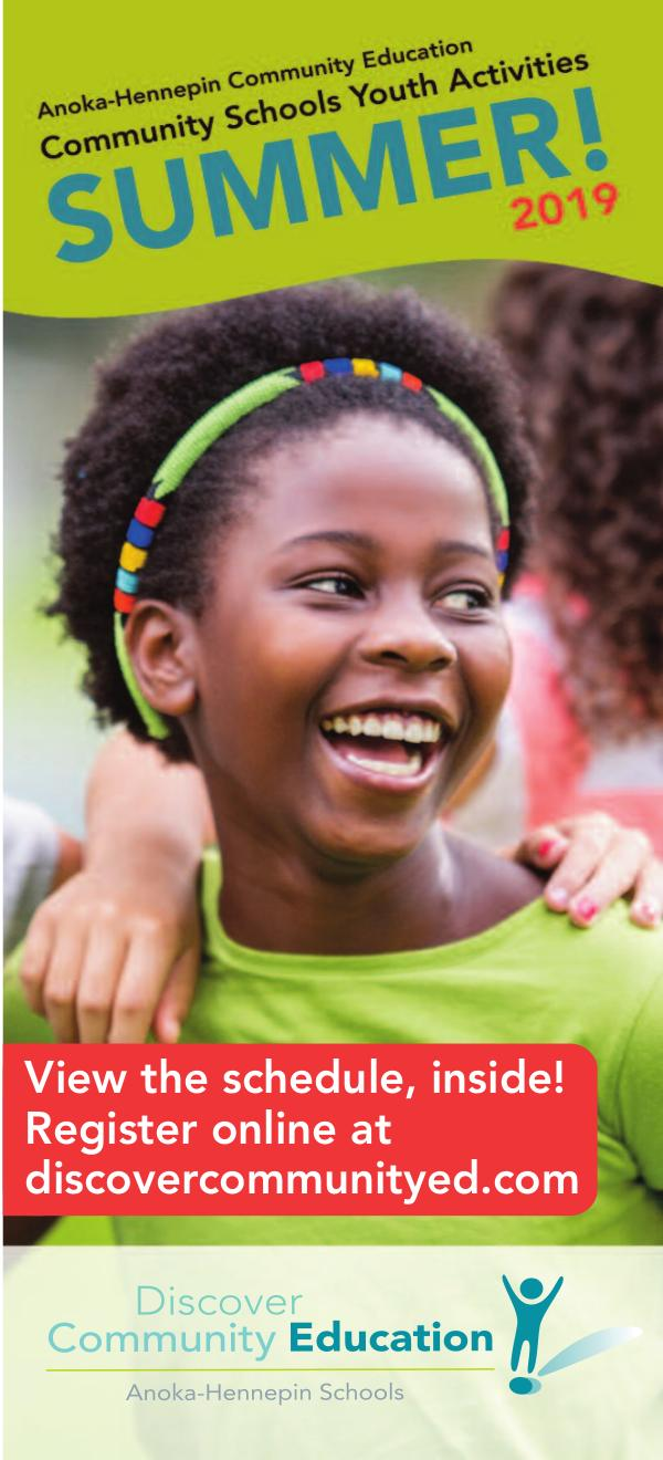 Community Education - current class catalogs Youth activities and classes, at-a-glance