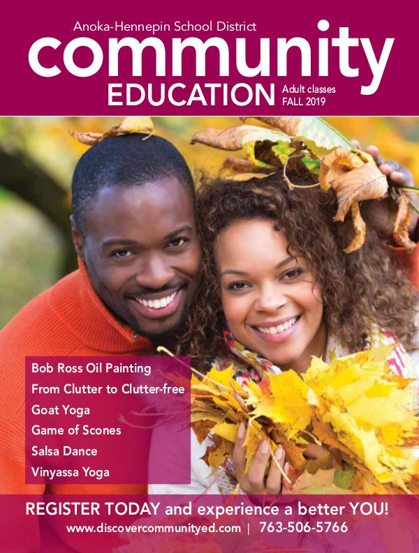 Adult activities and classes - Fall 2019