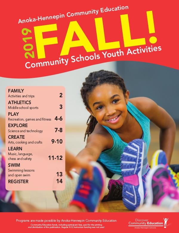 Youth activities and classes - Fall 2019