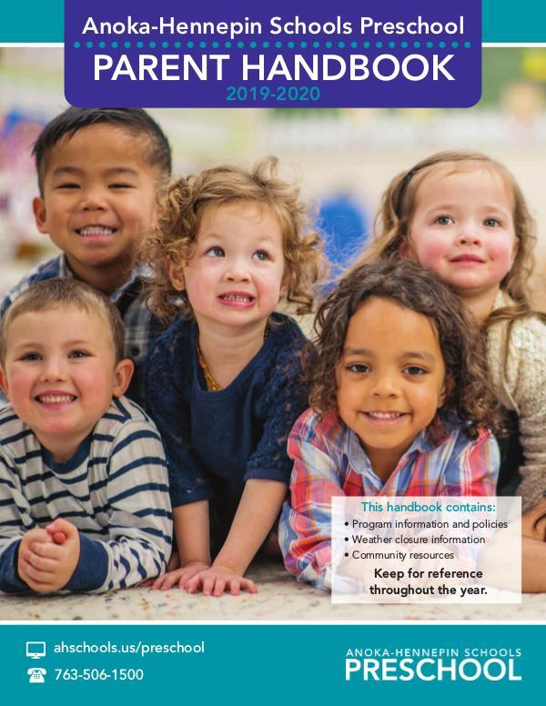 Community Education program brochures Preschool parent handbook - 2019-20 school year