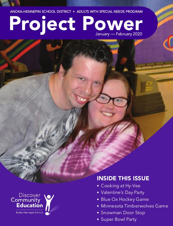 Community Education - current class catalogs Project Power - Winter 2020
