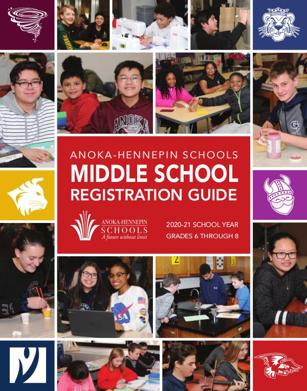 Reports, guides, handbooks Middle school registration guide 2020-21