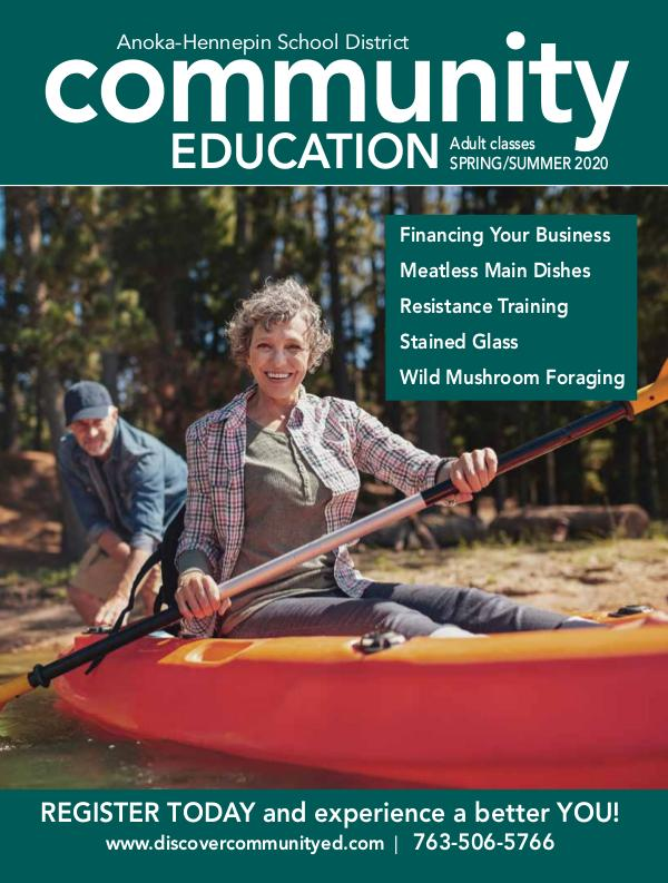 Community Education - current class catalogs Adult activities and classes - spring/summer 2020