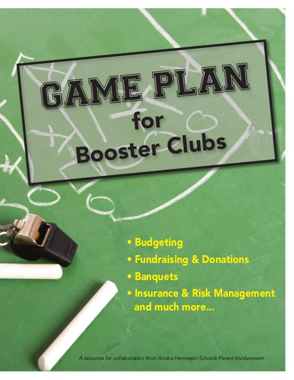 Game plan for booster clubs
