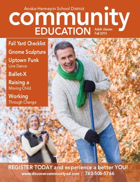 Adult classes and activities - Fall 2015