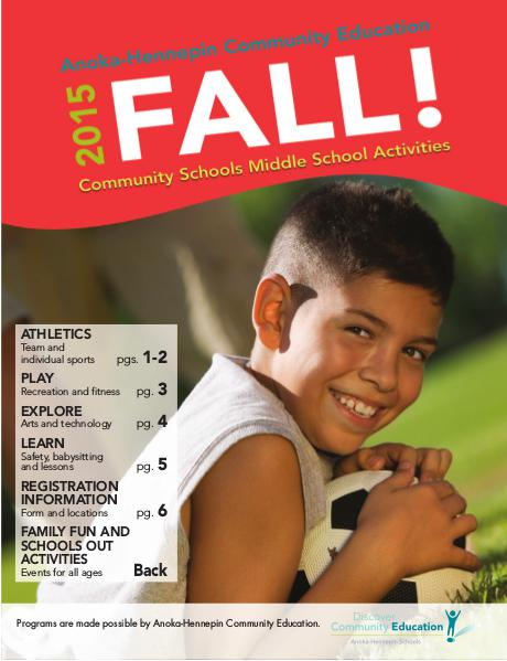 Youth classes and activities - Fall 2015