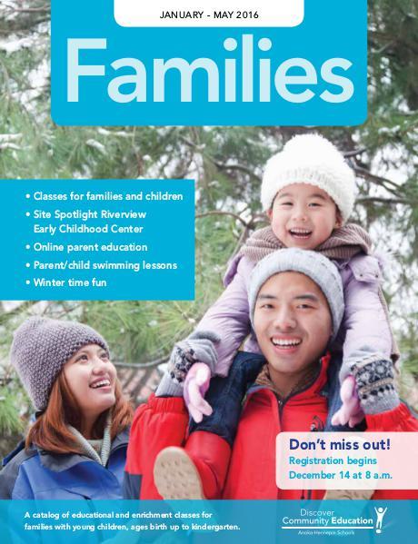 Families (ECFE and Preschool) - Winter 2016