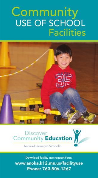 Community Education program brochures Community use of school facilities