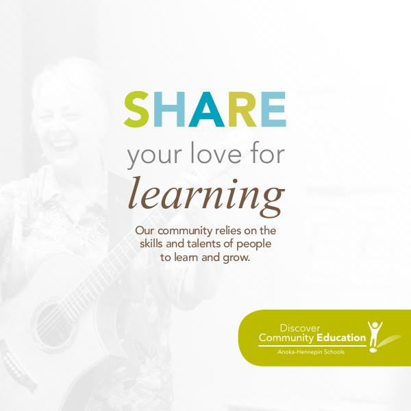 Share your love for learning