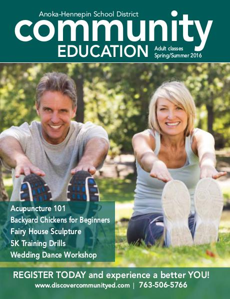 Adult classes and activities - Spring/Summer 2016