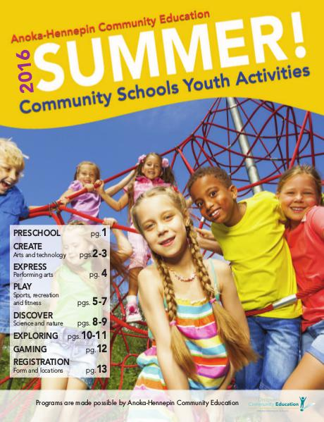 Youth classes and activities - Summer 2016