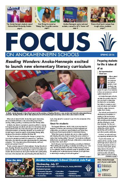 2015-16 Focus newsletter, [4] spring