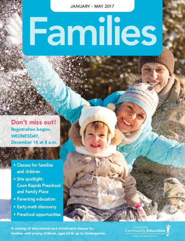 Families (ECFE and Preschool) - Winter 2017