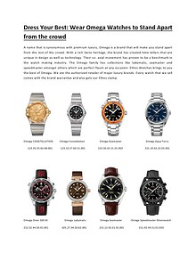 Dress Your Best Wear Omega Watches to Stand Apart from the crowd.pdf