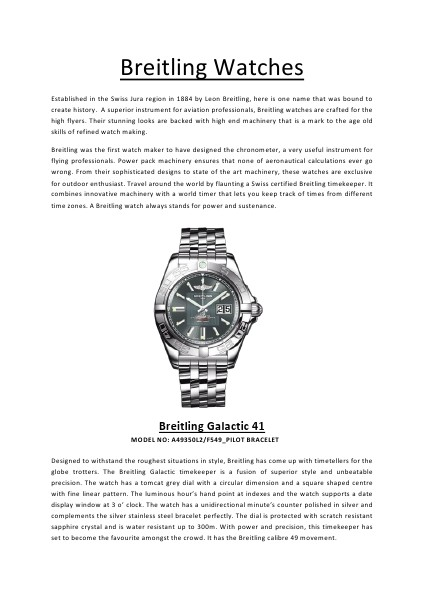 Breitling Watches - Vol 1